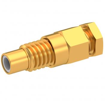 SMC / STRAIGHT JACK MALE SOLDER CLAMP FOR .085''/50 SR GOLD